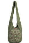 Kaleidoscope Lotus Boho Shoulder Bag