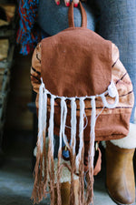 Fringe Waves Tie-Dye Mini Backpack