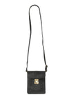 Leather Lacing Convertible Passport Crossbody Belt Bag