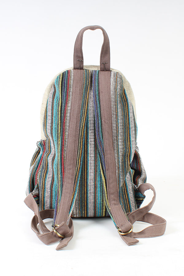 Hemp Rustic Stripe Backpack