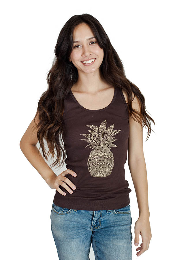 Ladies Pineapple Tank Top