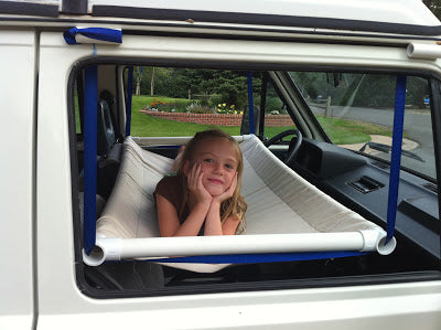 truck camping front seat hammock
