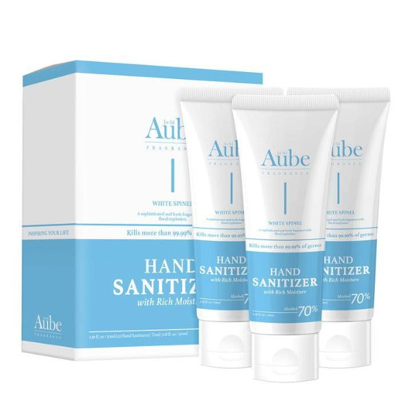 Aube Moisturizing Hand Sanitizer Gel, Made in Korea  70 ml (PACK OF 3)