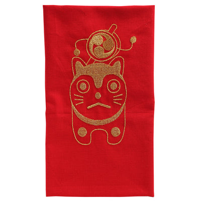 Tenugui/Komainu the lion-dog [Red]