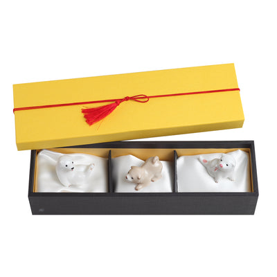 Chopstick rest/A Set of 3 Puppies
