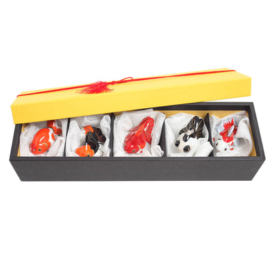Chopstick rest/A Set of 5 Goldfishes
