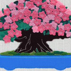 "Interior Fabric Panel/""Satsuki"" (Azalea)"