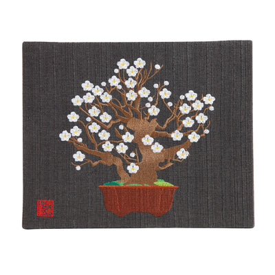 "Interior Fabric Panel/""Haku-bai"" (White Apricot Blossom)"