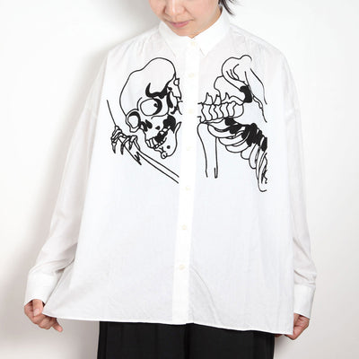 Doted Wide Shirt/Big Skeleton (Front)