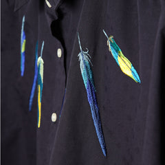 Doted Wide Shirt/Parakeet Feathers