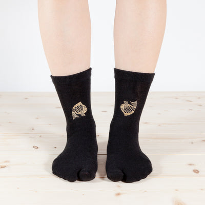 Tabi Socks/Happy Seabream [Black]