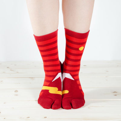 Tabi Socks/Red Fuji
