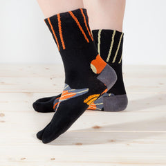 Tabi Socks/Butterfly Telescope[Black]