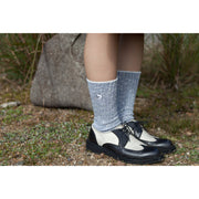 Cotton Slab Socks/Hare and Frog (Grey)