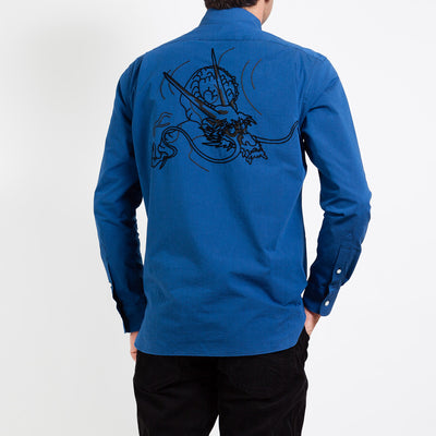 Men's Shirt/Dragon (Indigo)