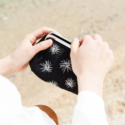 Bale-shaped Pouch/Sea Urchin (Black)