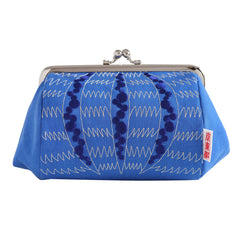 Bale-shaped Pouch/Sea Urchin Shell (Blue)