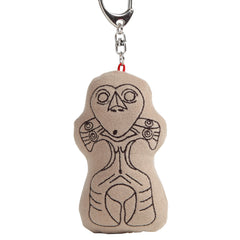 Keyholder/Heart-shaped Face Clay Figure.