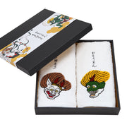 Father's Day Gift Box A set of 2 Towels/Fujin and Raijin