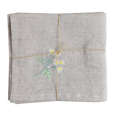 "Tea Towel/""Nogiku"" (Wild Chrysanthemum)"
