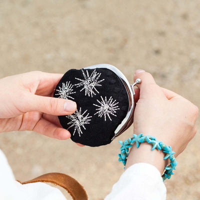 Mini Purse/Sea Urchin (Black)