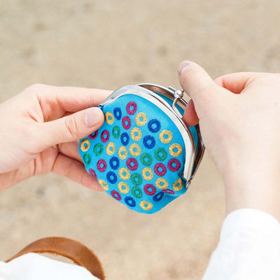 Mini Purse/Colorful Coral (Light Blue)