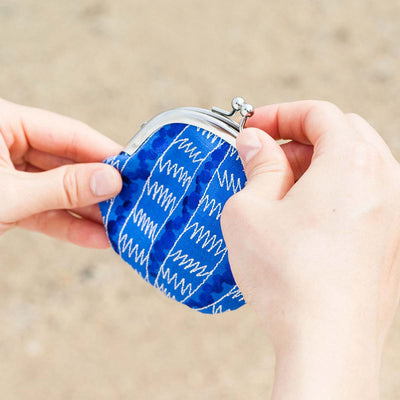 Mini Purse/Sea Urchin Shell (Blue)
