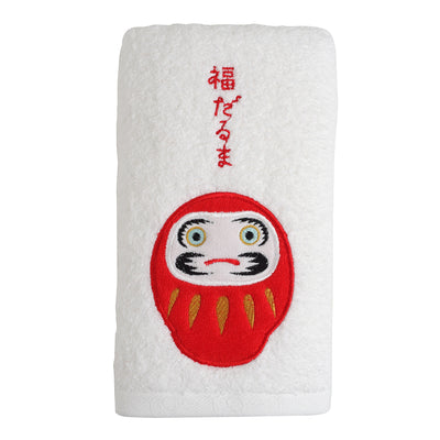 Face Towel/Daruma Doll [White]