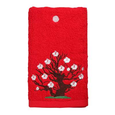 Face Towel/Japanese White Apricot (Red)
