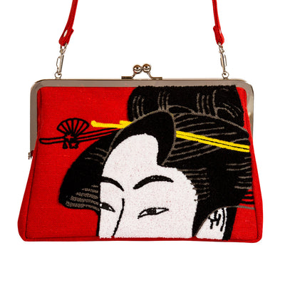 Clutch bag/Girl Blowing Vidro