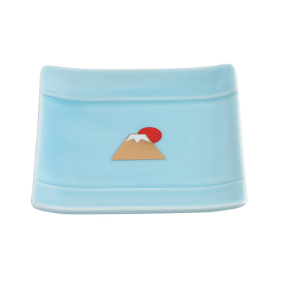 Tiny Plate/Mount Fuji in Square