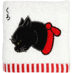 "Hand Towel/""Kuro"" Black Cat"