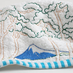 Hand Towel/Mt. Fuji and Pine Trees