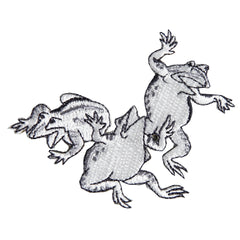 Patch/Wrestling Frogs and Hare