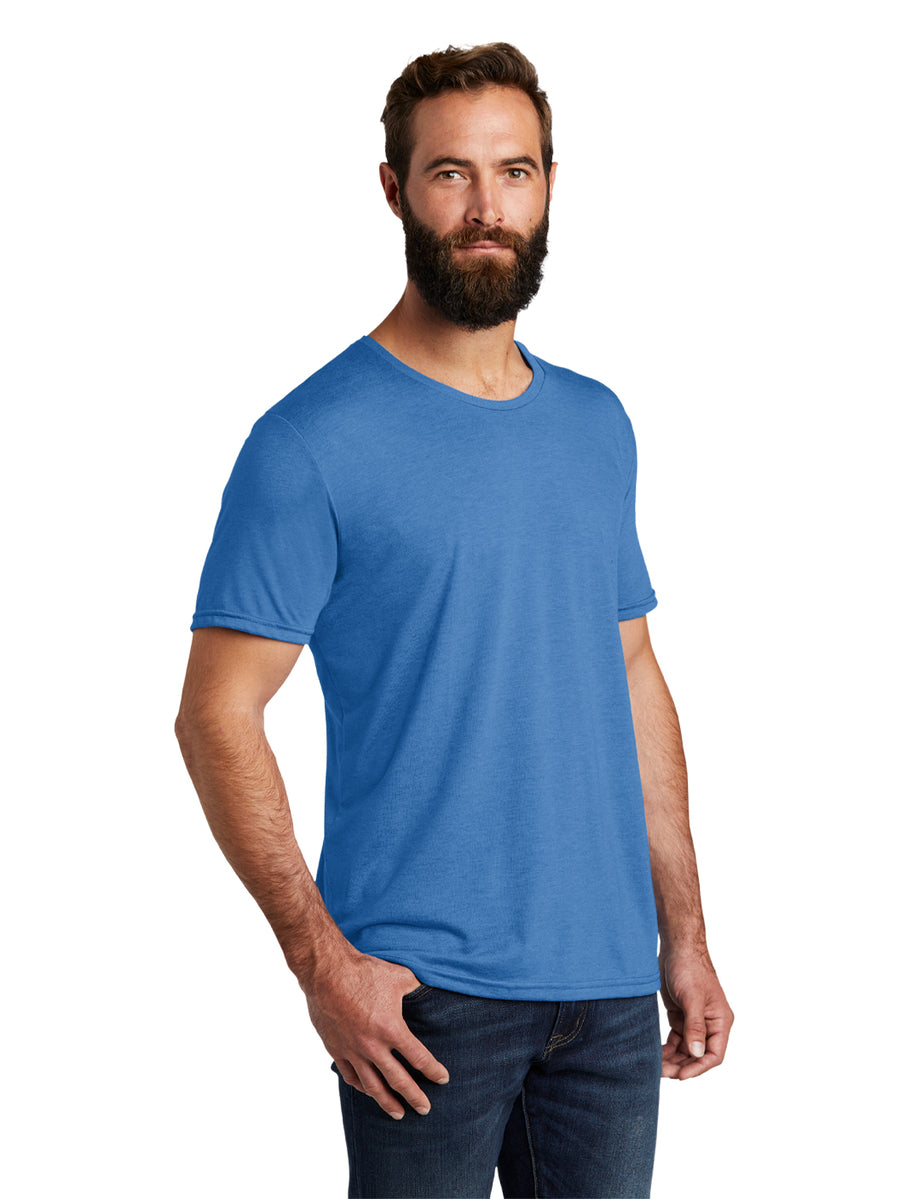 Allmade Men's Azure Blue Tri-Blend Short Sleeve Crew Neck T-Shirt | Allmade® Apparel
