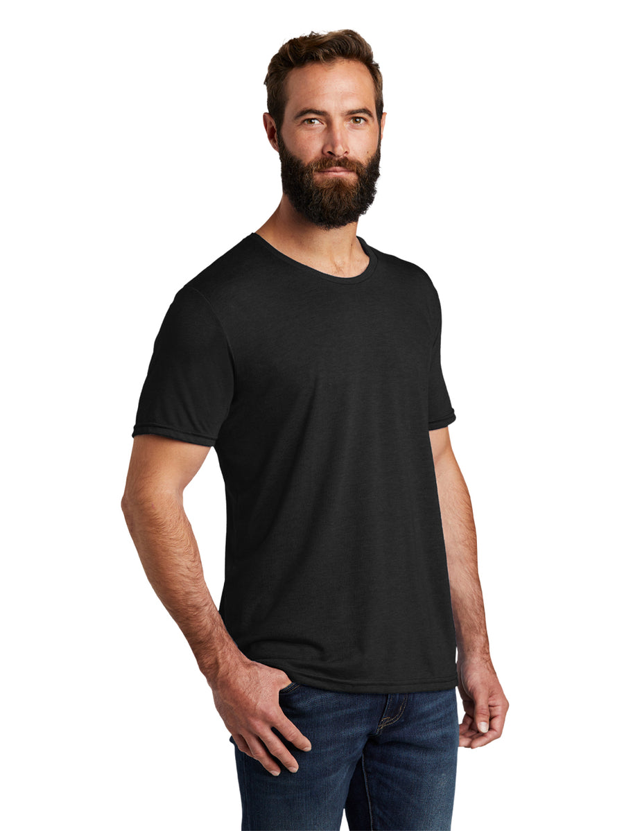 Allmade Men's Space Black Tri-Blend Short Sleeve Crew Neck T-Shirt | Allmade® Apparel