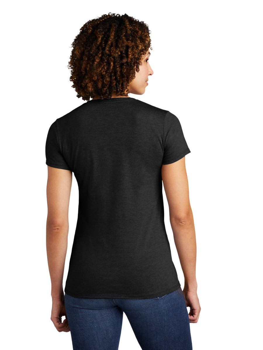 Allmade Women's Space Black Tri-Blend Short Sleeve Crew Neck T-Shirt | Allmade® Apparel