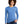 Allmade Women's Azure Blue Tri-Blend Long Sleeve Crew Neck T-Shirt | Allmade® Apparel