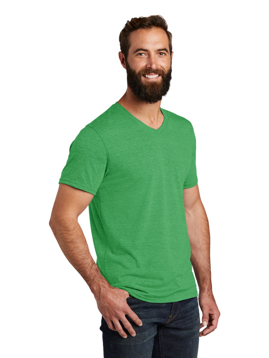 Allmade Men's Enviro Green Tri-Blend Short Sleeve V-Neck T-Shirt | Allmade® Apparel