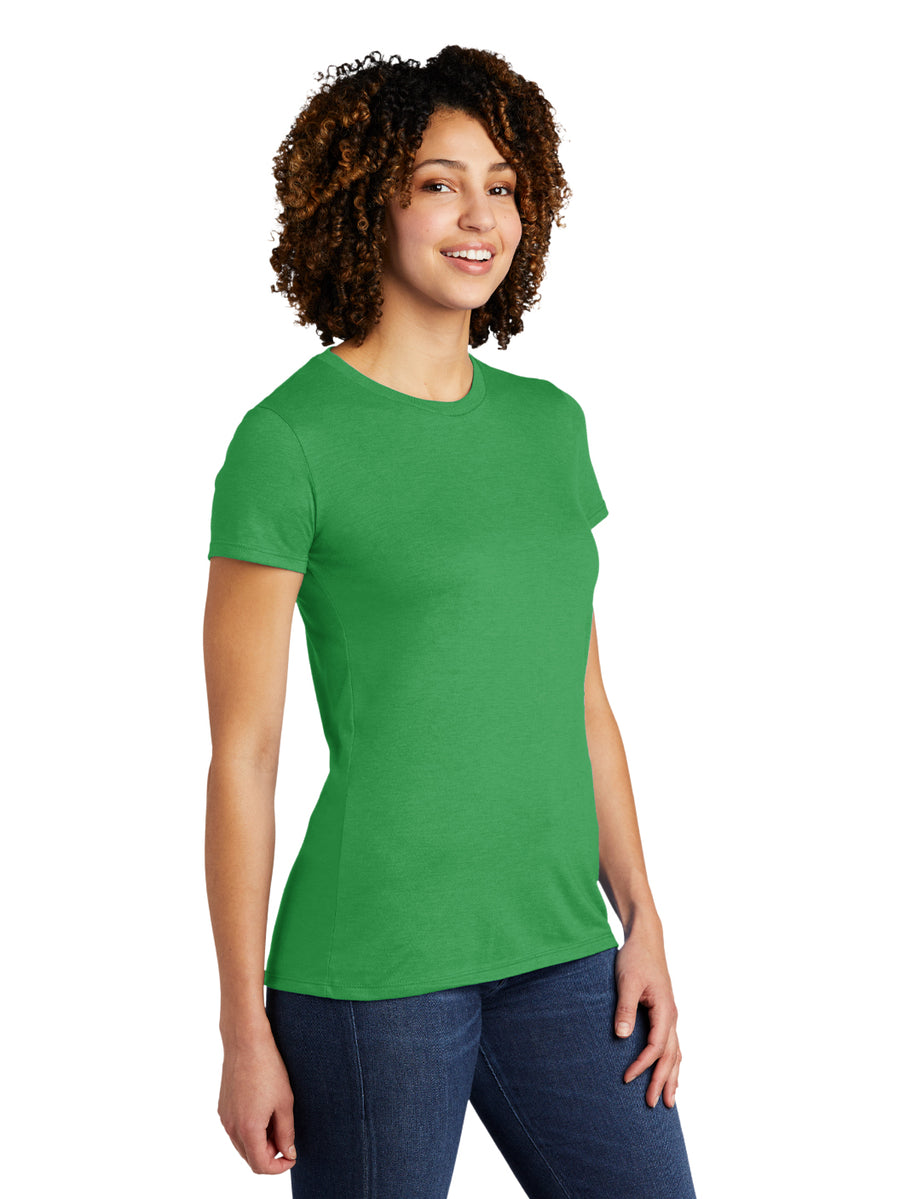 Allmade Women's Enviro Green Tri-Blend Short Sleeve Crew Neck T-Shirt | Allmade® Apparel