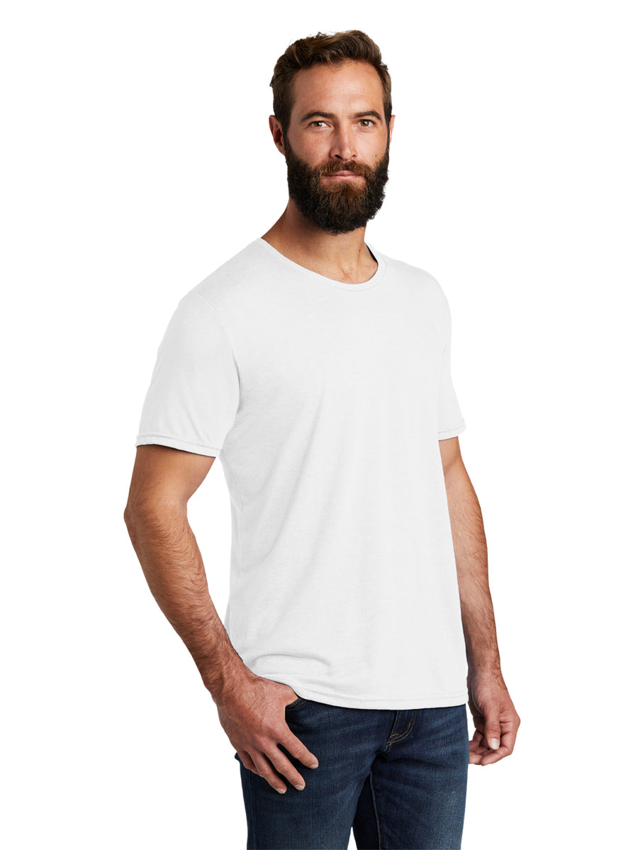 Allmade Men's Fairly White Tri-Blend Short Sleeve Crew Neck T-Shirt | Allmade® Apparel