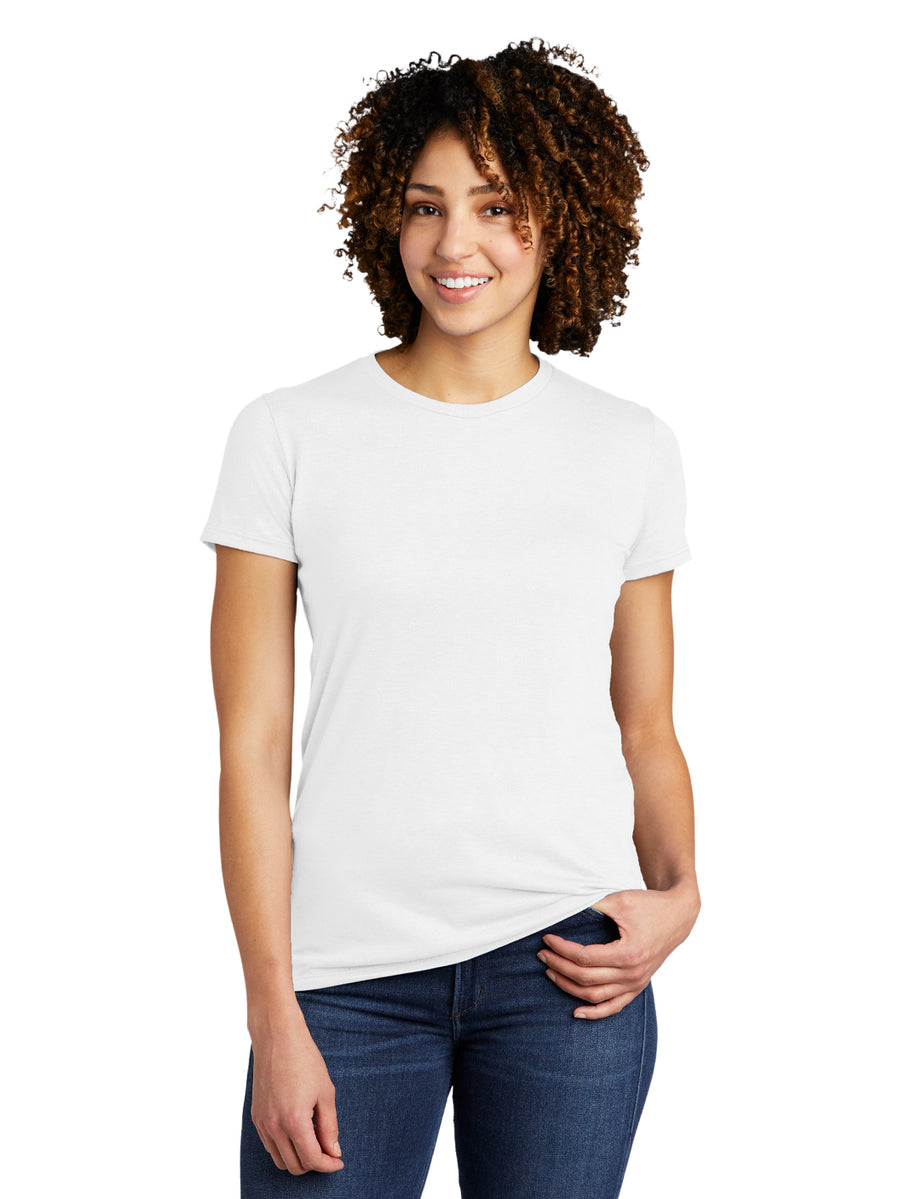 Allmade Women's Fairly White Tri-Blend Short Sleeve Crew Neck T-Shirt | Allmade® Apparel