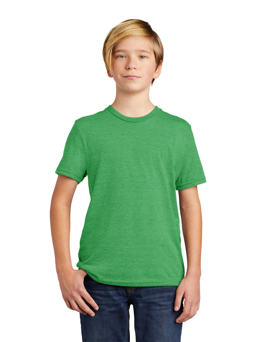 Allmade Youth Enviro Green Tri-Blend Short Sleeve Crew Neck T-Shirt | Allmade® Apparel