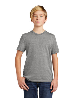 Allmade Youth Aluminum Grey Tri-Blend Short Sleeve Crew Neck T-Shirt | Allmade® Apparel