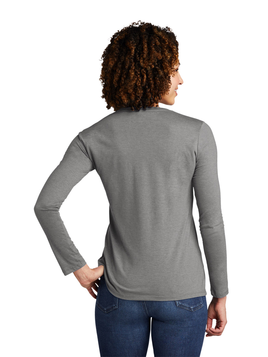 Allmade Women's Aluminum Grey Tri-Blend Long Sleeve Crew Neck T-Shirt | Allmade® Apparel