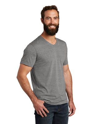Allmade Men's Aluminum Grey Tri-Blend Short Sleeve V-Neck T-Shirt | Allmade® Apparel