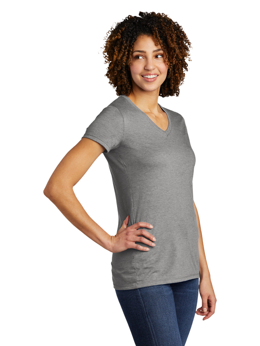 Allmade Women's Aluminum Grey Tri-Blend Short Sleeve V-Neck T-Shirt | Allmade® Apparel