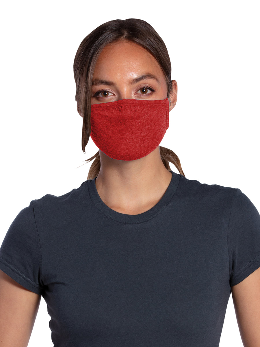 Allmade Tri-Blend Rise Up Red Shaped Face Mask