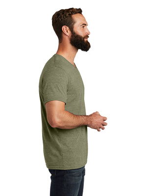 Allmade Men's Olive You Green Tri-Blend Short Sleeve V-Neck T-Shirt | Allmade® Apparel