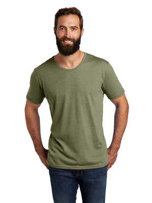 Allmade Men's Olive You Green Tri-Blend Short Sleeve Crew Neck T-Shirt | Allmade® Apparel